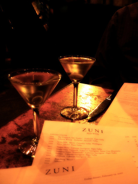 "Artful décor at Zuni Café in San Francisco.<br />  <a href=""http://www.zunicafe.com/"">http://www.zunicafe.com/</a>"
