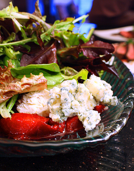 Mixed Greens with Plum Dressing and Goat Cheese