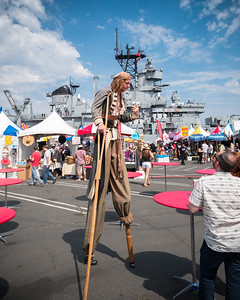 Arrrrrr...stilt walking pirate!