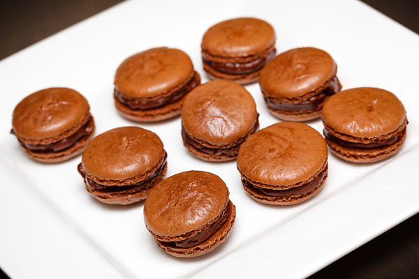 Bitter Chocolate Macarons, ready for my belly