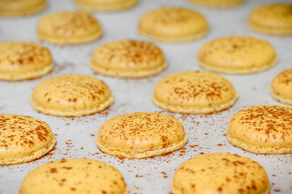 Macaron Mogador shells, ready to be filled