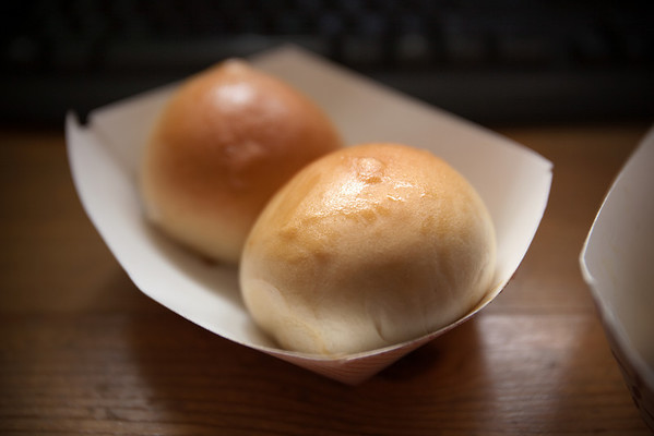 Baked Char Siu Bao...I didn't see steamed on their order form (even though they had pics of them on the truck)