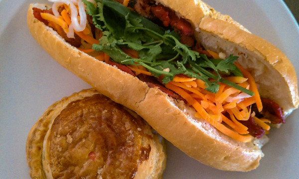 First Bánh mì and pâté chaud of 2013...and it is NOT from a truck :)