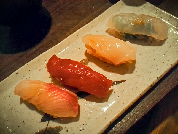 Upon Dimitri's recommendation, we order omakase from Sushi Chitose