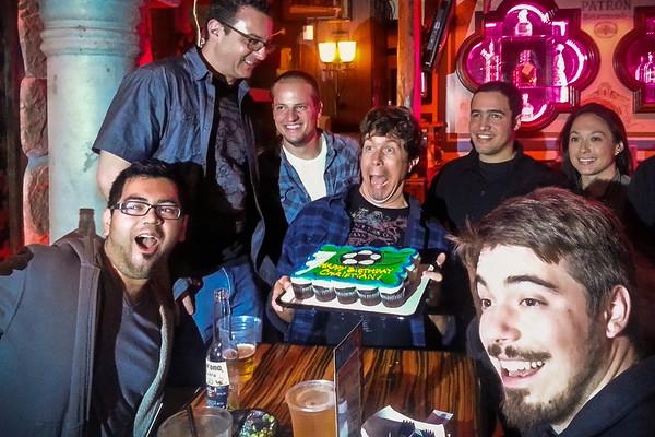 APRIL - Celebrating Christian's birthday at Sharkeez in Manhattan Beach