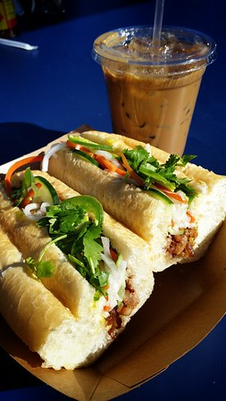 Apparently I would pay $9 for a banh mi...out of desperation.  It's actually not bad.  In fact, the caramel pork belly is quite good.  But it is definitely not worth $9!  What's worse is that the Vietnamese iced coffee is disappointingly weak...and cost $4!  That's not a venti sized cup!