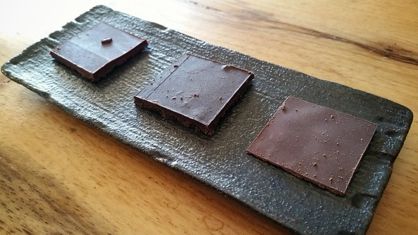 JANUARY - First time at ChocoVivo means we have to sample from their tasting Menu: Almonds + Sea Salt, Shangri-La, Coffee + Vanilla Bean