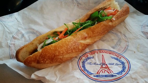 Having a coworker who lives near Little Saigon has its perks...weekly bánh mì from Tip Top Sandwiches!