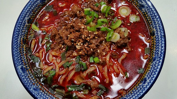 Red spicy tantanmen at Beni-Tora.  Thanks to Rickmond for alerting us to this item on their menu...just weeks before they leave our local Mitsuwa