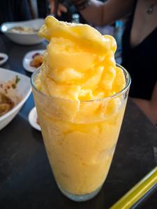 Mango smoothie... yum!