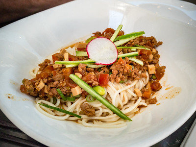 Noodles with Minced Pork Sauce is not a memorable dish