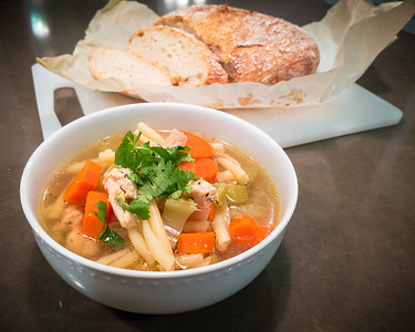 """Valerie claims making chicken noodle soup and fresh bread is an """"easy"""" meal thanks to Instant Pot"""
