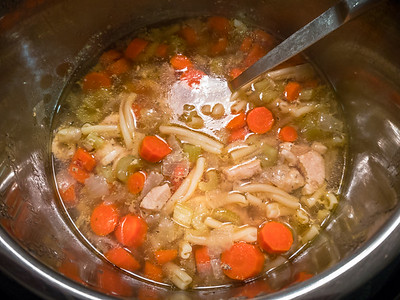 Next out of the Instant Pot is homemade chicken soup