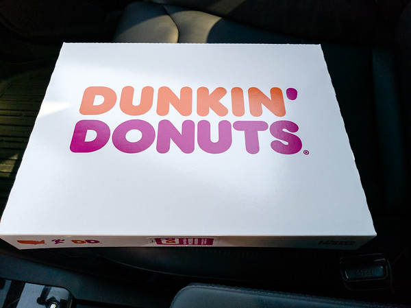 I pick up Dunkin' Donuts on my way to work...today is a deadilne day!