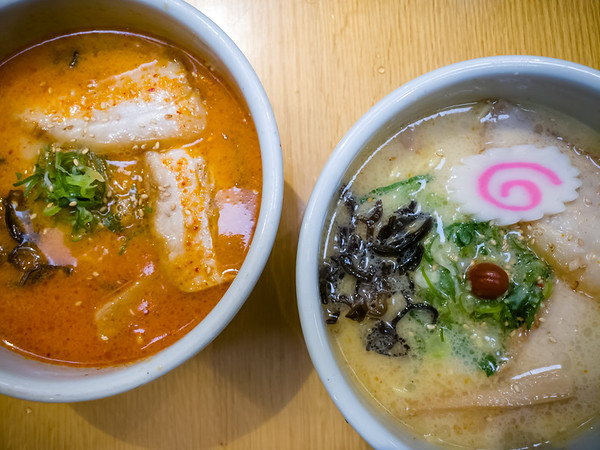 Santouka is once again our first ramen of the year.  Spicy miso or shio...which would you choose?