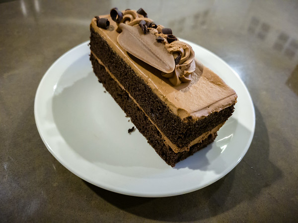 Their Parisian Cake Slice is disappointing...the cake is nothign special and the whipped icing is not chocolatey enough