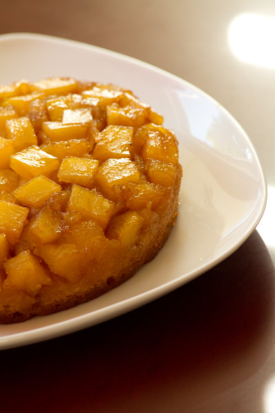 Pineapple Upside Down Cake for two.  Recipe from America's Test Kitchen
