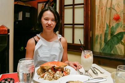 Val orders the Dungeness Crab...again