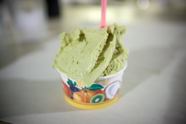 One thing I actually like about Eatalian's odd setup is that you can sample the various gelato flavors before placing an order.  I end up with pistachio which really says a lot about how good it is (it takes a lot to sway me from flavors based on chocolate, coffee, or tropical fruit).