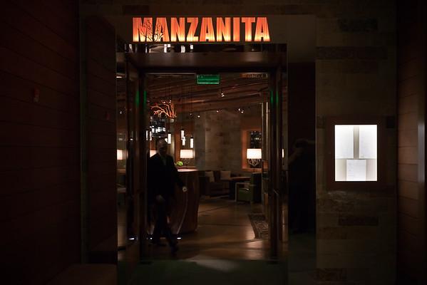 Tonight we try Manzanita, the hotel's fine dining restaurant