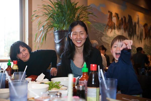 Mom, Kim, and Caleb