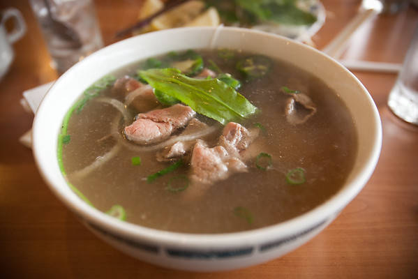 I have to admit, this is a perfect day for Pho Tai...it's cold outside!
