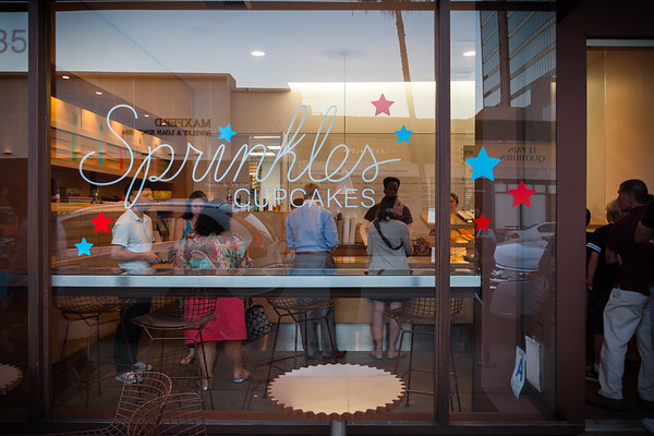 It is a good thing I did NOT know that Sprinkles (and their infamous cupcake ATM) is located across the street from Crustacean.  I am too stuffed to even think about cupcakes right now.