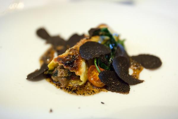 Foie Gras & Porcini - cannelloni, Australian black truffle, parmesan