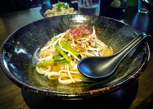 I opt for the Spicy Ground Pork Udon.  The broth is not spicy enough, but the flavor is good...