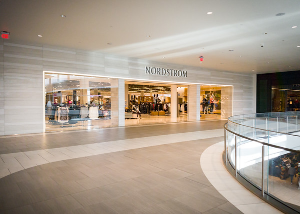 While waiting for a table, Valerie decides we should check out Nordstrom...lured away from the South Bay Galleria to anchor this significantly transformed mall
