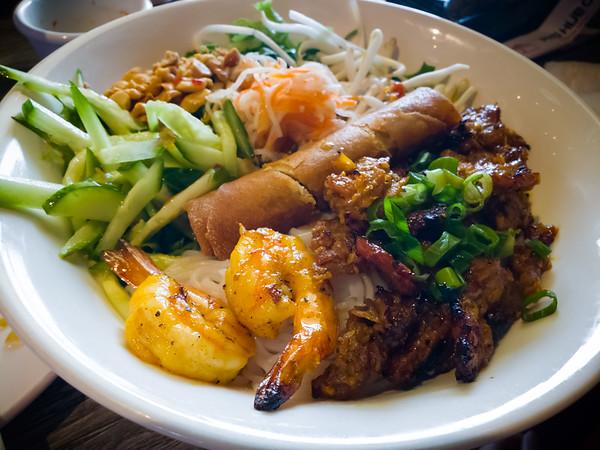 Valerie's Bún Thịt Nướng Tôm Chả Giò looks really good