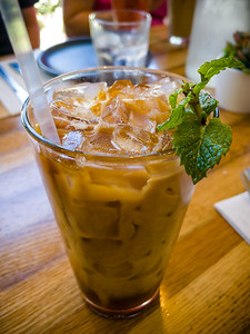 I am always disappointed by Thai Iced Coffee.  The Vietnamese understand the proper balance of dark espresso and sweetened condensed milk...the Thai version is never strong enough