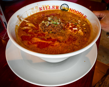 Valerie opts for level 2 Tokyo-Style tantanmen soup