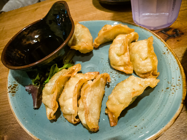 Crispy Gyoza - Crispy pork and chicken potstickers