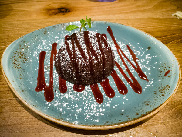Chocolate Lava Cake ... why do so many places serve these with raspberry coulis?