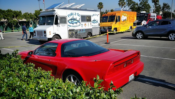 Can't believe I've never been to the food truck lot hosted at the Redondo Beach Performing Arts Center...not far from the office, plenty of parking spaces, and they are here with different trucks for lunch every Thursday (and they have dinners here on Tuesday nights)