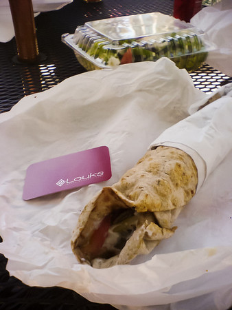 The Burrito from a Louks-to-go.  Nothing special to report here.
