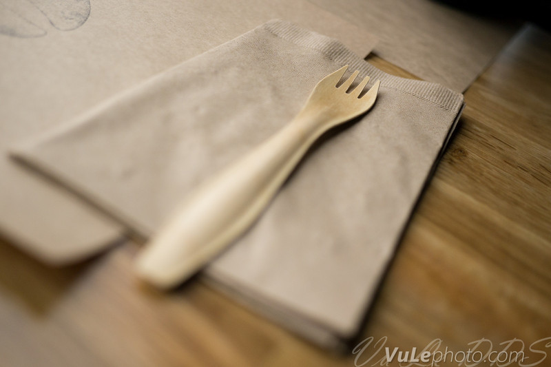 Wooden sporks by Apenware - just barely usable, but sends that environmessage loud and clear