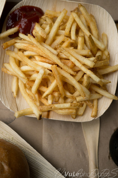 The shoestring fries were light and crispy all the way to the end.  Their ketchup is mixed with just a little bit of soy sauce...unexpected, but welcome.