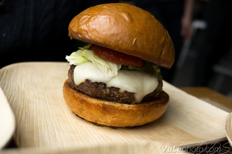 Cali Burger - butter lettuce, slow-roasted tomato, house spread, house-made American cheese, caramelized onions.   There's some gruiere cheese in that mix...with the onions in there it reminds you of cheese topped french onion soup.