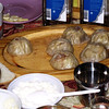 Traditional dumplings - mantee. (Ulan-Ude, Buryatia)