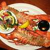 Double lobster special at the Station House. (Lantana, Florida)