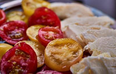 New York, New York - August 15, 2016 -Tomatoes and mozzarella