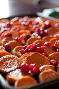 Cranberry-glazed Sweet Potatoes