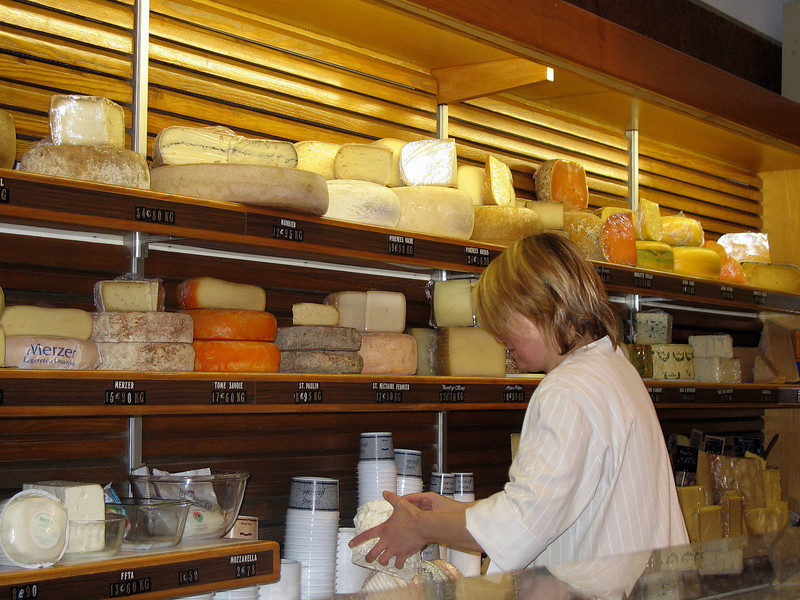 Montmarte cheese store - delightful smell.