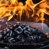 Hot Charcoal Briquettes