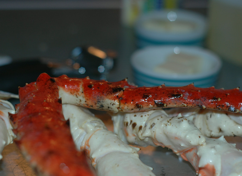 Grilled King Crab legs <br /> New Year's Eve 2014