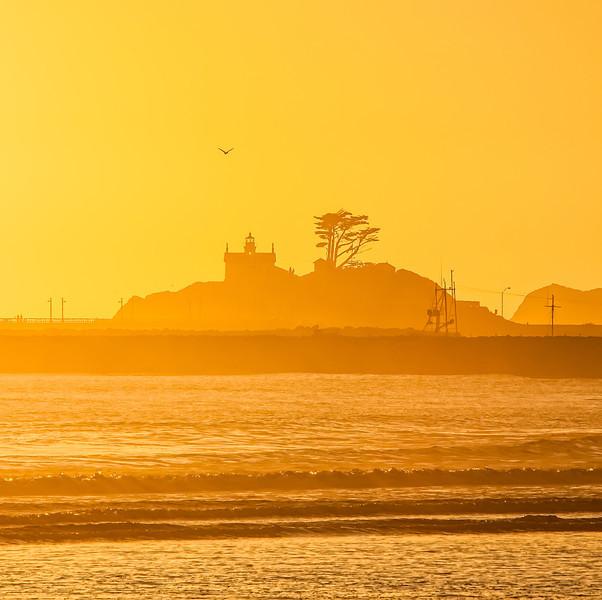 Sunset, Battery Point Lighthouse