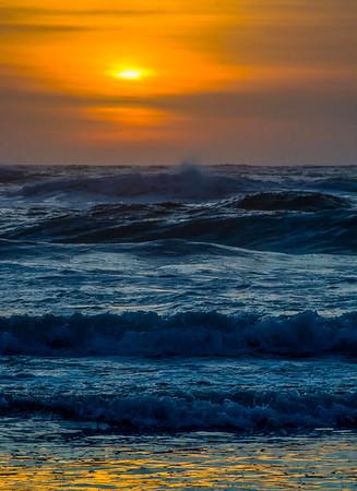 Blue Wave Sunset