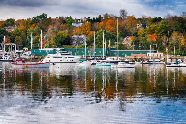 Fall Color and Boats, Belfast Maine